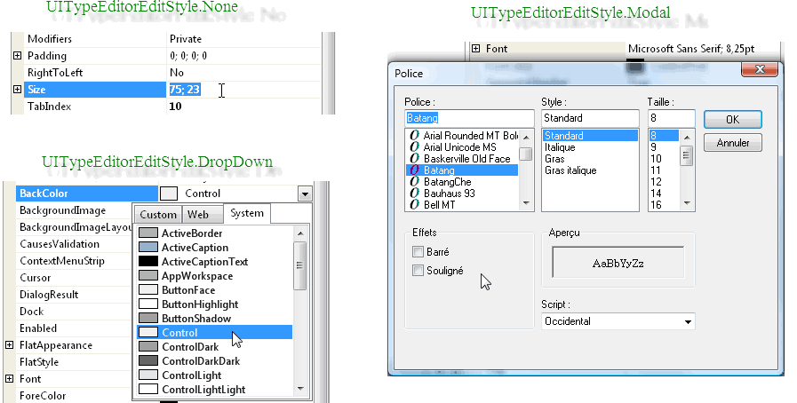 Editor styles